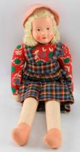VINTAGE POLISH CLOTH DOLL 11 INCHES TALL