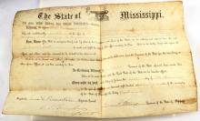 US CIVIL WAR MISSISSIPPI PETTUS SIGNED COMMISSION