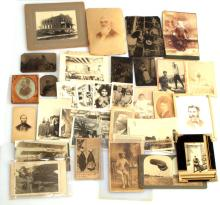39 ANTIQUE PHOTOGRAPH LOT TINTYPES CABINET