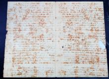 1814 HANDWRITTEN LETTER FROM SOLDIER TO FAMILY