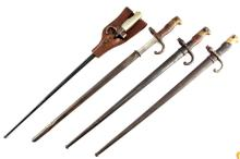 LOT OF FOUR FRENCH BAYONETS 1874 AND 1886 MODELS