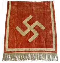 WWII GERMAN THIRD REICH SWASTIKA BULLION TAPESTRY