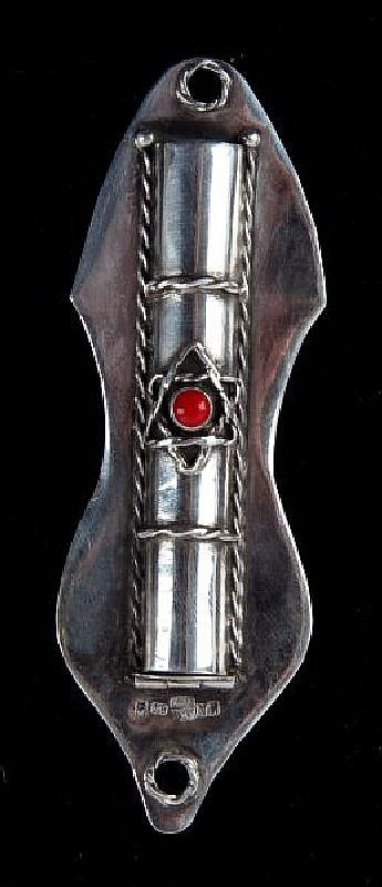RUSSIAN STERLING MEZUZAH HALLMARKED MOSCOW 1873