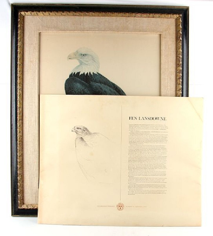 JF LANSDOWNE SIGNED/NUMBERED BALD EAGLE PRINT
