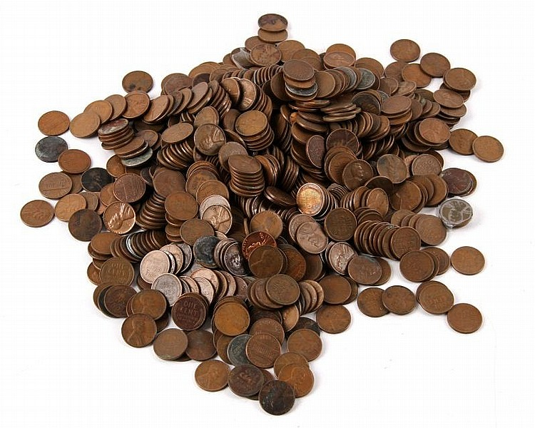 OVER 5 LBS OF UNSEARCHED WHEAT PENNIES