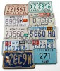 10 VINTAGE MOTORCYCLE LICENSE TAGS VARIOUS STATES
