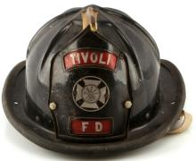 VINTAGE OBSOLETE TIVOLI FIRE DEPARTMENT HELMET