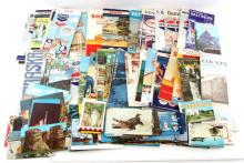 LOT OF VINTAGE HIGHWAY MAPS AND POST CARDS