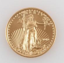GOLD 1/10 OZT AMERICAN EAGLE 2016 COIN BU