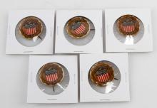 1911 CLEVELAND INDEPENDENCE DAY PIN LOT OF FIVE