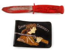 1960S DAYVY CROCKETT WALLET AND RUBBER KNIFE