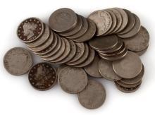 40 V NICKEL COINS VARIOUS DATES INCLUD SEMI KEY