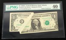 MAJOR GUTTER FOLD ERROR FEDERAL RESERVE NOTE EF40