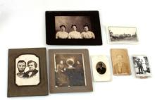 7 ANTIQUE PHOTGRAPH LOT CABINET TINTYPE OF INTERES