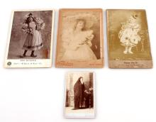4 INTERESTING CABINET PHOTOGRAPH LOT