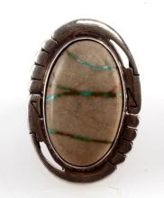 JERRY PLATERO SILVER NATIVE AMERICAN RING