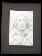CABINET PHOTOGRAPH BIG STAR SIOUX IN CUSTER MASSAC