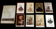 1 CABINET & 5 MILITARY CDV PHOTOGRAPH LOT