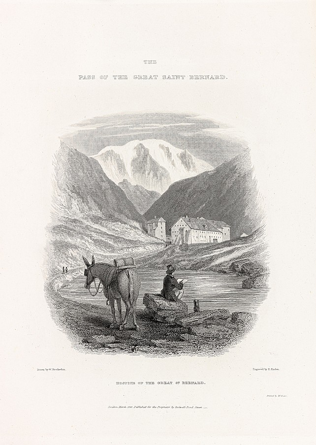 BROCKEDON (William). The Illustrations of the passes of the Alps, by which Italy communicates with France, Switzerland and Germany. Londres, chez l'Auteur, 1828-1829. 2 volumes grand in-4, demi-chagrin rouge avec coins, dos orné, tête dorée (A. Mac