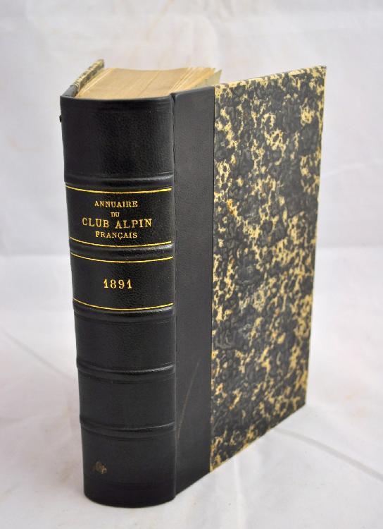 ANNUAIRE DU CLUB ALPIN FRANÇAIS. Paris, Au Siège social du Club alpin français et à librairie Hachette & Cie, 1875-1903. 30 volumes in-8, demi-chagrin brun, dos orné (Reliure de l'époque).
