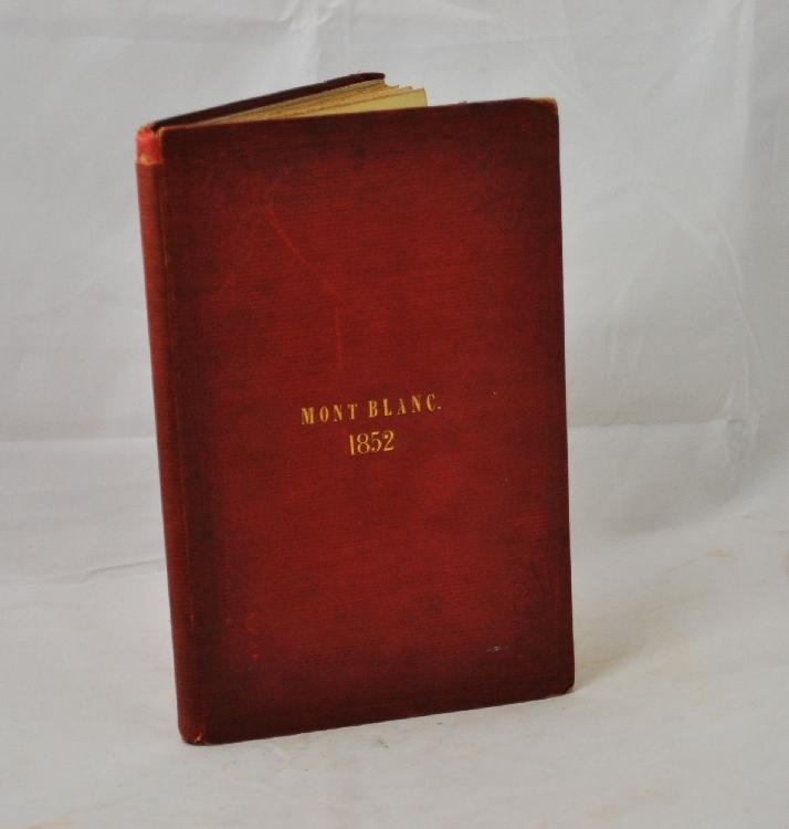 BULWER (James Redford). Extracts from my Journal. 1853. Norwich, Charles Muskett, 1853. Plaquette in-8 de 56pp., percaline cerise gaufrée, filets et écoinçons à froid, titre doré sur le premier plat, non rogné (Reliure de l'époque).