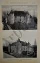 TEULET. Châteaux de Franche-Comté. Besançon, Teulet, 1907. 2 fascicules grand in-8, en feuilles, chemise demi-toile de l'éditeur.