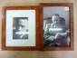 Julien GRACQ (1910-2007). 2 photographies avec dédicaces autographes signées au dos ; à vue 21 x 14 cm et 12 x 8,5 cm (encadrées, dédicaces visibles au verso).