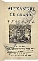 RACINE (J.). Alexandre le Grand. Tragédie. Paris, Théodore Girard, 1666, in-12, maroquin bleu, double encadrement de filets dorés, dos à nerfs orné, roulette dorée intérieure, tranches dorées (Chambolle- Duru).