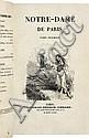 HUGO (V.). Notre-Dame de Paris. Paris, Ch. Gosselin, 1831, 2 vol. in-8°, demi-maroquin prune à coins, dos lisses ornés et mosaïqués, tête dorée (Semet & Plumelle).
