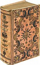 COCHEM (Martin von). Guldener Himmels-Schlüssel, oder : Sehr kräfftiges, nützliches und tröstliches Gebett-Buch, zu Erlösung der lieben Seelen des Fegfeuers. Sulzbach, Joh. Peter Wolffs seel. Erben, 1761. In-8, vélin teinté en rose sur ais de bois,