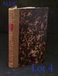 DIDEROT (Denis). Le Neveu de Rameau, ouvrage posthume et inédit. Paris, Delaunay, 1821. In-8, demi-basane fauve, dos lisse orné de filets dorés et à froid, pièce de titre rouge, tranches marbrées (Reliure de l'époque).