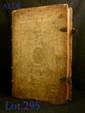 AUGUSTIN (Saint). Opera. Paris, s.n., 1635-1637. 2 tomes en un volume in-folio, peau de truie estampée à froid sur ais biseautés, grand cadre orné de large roulette à motifs de palmettes, filets, roulettes variées, large roulette comprenant les