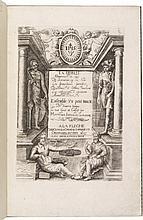 JOUSSE (M.). La Fidelle ouverture de l'art de serrurier... Ensemble un petit traité de diverses trempes... La Flèche, G.Griveau, 1627, petit in-folio, maroquin bleu janséniste, dos à nerfs, roulette intérieure dorée, tranches dorées (Lortic).