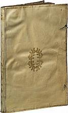 ERRARD (J.). La Fortification réduicte en art et desmontré... À Paris, 1600, in-folio de 2 ff. sign a2, et 102 pp. A-Z2, Aa-Cc2, vélin ivoire, filets dorés autour des plats, couronne de lauriers au centre, dos lisse orné d'une fleur de lys