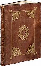 CATANEO (P.). L'architettura... Venise, Alde, 1567, in-folio de 104 ff. sign. [ 2], A-AA4, BB2, CC4, veau fauve, sur les plats, encadrements de filets à froid et dorés, en angle écoinçon de feuillage entourant un cartouche ovale autour d'une tête