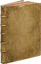 PALLADIO (A.). I quattro libri dell'architettura. Venice, Dominicho Franceschi, 1570, 4 parties en un vol. in-4° de 166ff., sign A2, B-II4, KK4, AAA-FFF4, AAAA-RRRR4, vélin ivoire rigide, dos à nerfs, tranches mouchetées (reliure du XVIIIe siècle).
