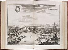 ZEILLER (M.). Topographia Galliae sive descriptio et delineatio famosissimorum locorum in potentissimo Regno Galliae... Francfort, Merian, 1655-1661, 13 parties en 4 vol. in-4°, t. I: 6 ff. (titre gravé, titre, dédicace), pp. 5-80 de texte, 2 ff.