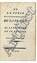 CONSTANT (Benjamin). [Recueil factice de 5 brochures politiques de Benjamin Constant.] (Paris, Lausanne), 1796-1798. 5 brochures en un vol. in-8, demi-veau havane, dos lisse orné, tranches jaunes. (Reliure de l'époque).