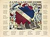 Raoul Dufy (1877-1953) La Fin de la Grande Guerre. 1915. Bois gravé et texte typographié. [620 x 470]. Très belle épreuve sur vergé mince, coloriée au pochoir et numérotée à la mine de plomb. Toutes marges. Tirage à 100 épreuves.