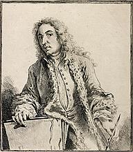 Jean-Antoine Watteau (1684-1721) (d'après) Pl. des Figures de différents caractères ; pl. des Figures Françoises et Comiques ; pl. du Livre de différents caractères de Têtes, etc. Eau-forte (1 par Watteau lui-même, les autres par Audran, Boucher,