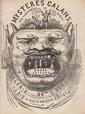 [BAUDELAIRE (Charles)]. Les Mystères galants des théâtres de Paris. Paris, Cazel, 1844. In-16, bradel demi-toile rouge, titre en long sur pièce de maroquin vert, non rogné, étui (Reliure de l'époque).
