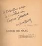 BLOY (Léon). Sueur de sang. (1870-1871). Paris, E. Dentu, 1893. In-12, bradel demi-basane maroquinée fauve, dos lisse avec le titre doré, couverture et dos, non rogné (Reliure moderne).