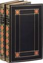 BALZAC (Honoré de). Le Lys dans la vallée. Paris, Werdet, 1er juin 1836. 2 volumes in-8, veau bleu nuit, double filet doré, bordure au double filet doré cerné de roulettes à froid avec fleurons aux angles de maroquin rouge mosaïqué, dos lisse orné en
