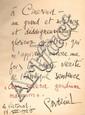 D'ANNUNZIO (Gabriele). Nocturne. Paris, Calmann Lévy, 1923. In-8, vélin ivoire à recouvrements et lacets de cuir, dos lisse avec le titre calligraphié, non rogné, couverture (Reliure de l'époque).