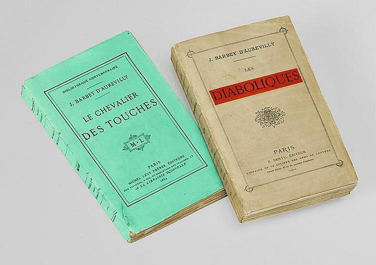 BARBEY D'AUREVILLY (Jules). Le Chevalier Des Touches. Paris, Michel Lévy, 1864. In-12, broché, non rogné, chemise de demi-maroquin vert sombre avec coins, étui bordé (Alain Devauchelle).