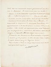 François de CHATEAUBRIAND. P.S., Paris 28 avril 1847; 3/4 page in-4.