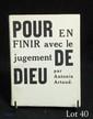ARTAUD (Antonin). POUR EN FINIR AVEC LE JUGEMENT DE DIEU. Paris, K éditeur, 1948. In-12 broché.