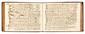 AIRS CHOISIS. Manuscrit musical, Recueil d'airs choisis de differents autheurs, XVIIIe siècle ; volume oblong petit in-4, 255 pages, reliure de l'époque basane brune, dos orné (une page en partie détachée par corrosion d'encre).