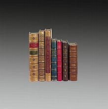 ANCILLON (Charles). Traité des Eunuques. S.l.n.n., 1707. In-12, veau havane glacé, roulette à froid en encadrement, médaillon central à froid, dos orné de motifs dorés et à froid, roulette à froid sur les coupes, tranches dorées, roulette intérieure