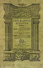 BIBLE. ??? ?a???? ??a????? ap???ta. Novum Jesu Christi D. N. Testamentum, cum notis Josephi Scaligeri in locos aliquot